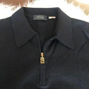 Versace Classic V2 black men's wool long sleeve
